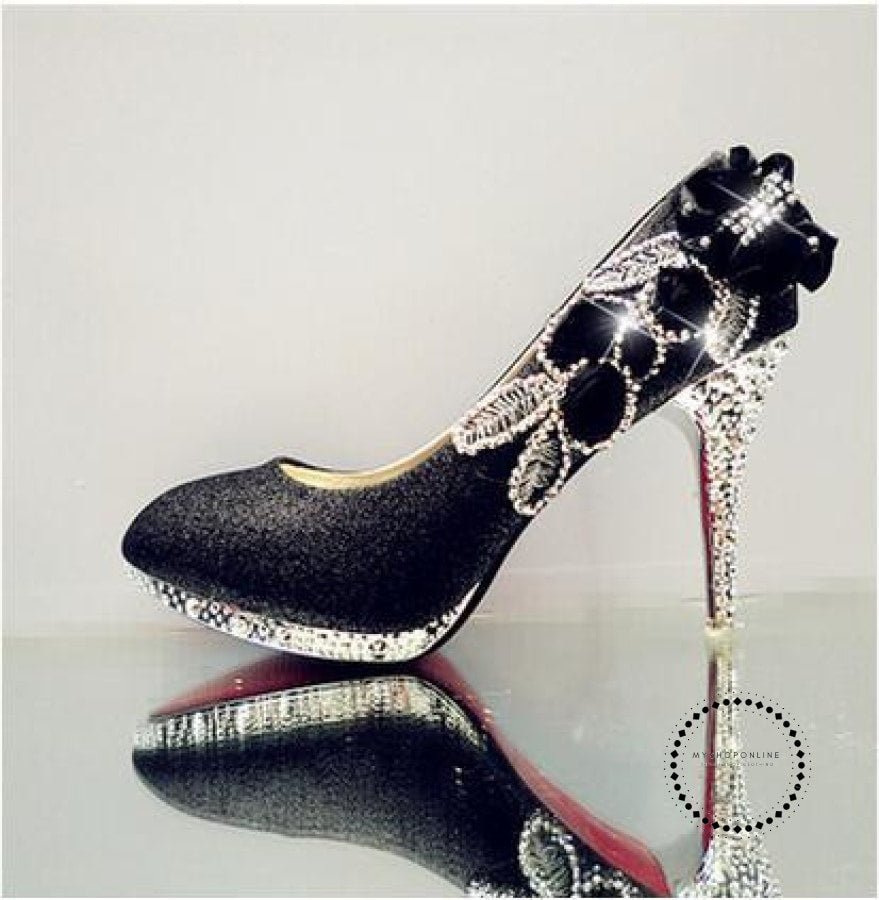 Women Shoes Black 10Cm / 4 Accesorios