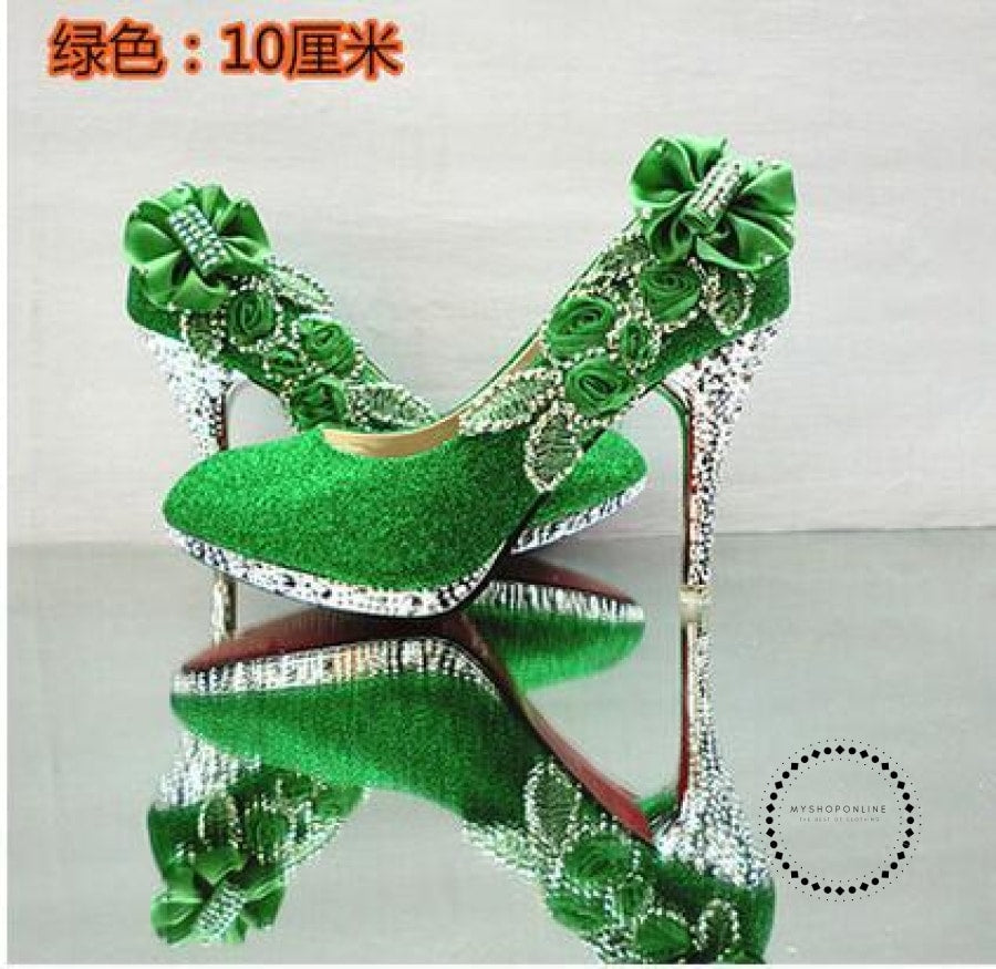 Women Shoes Green 10Cm / 4 Accesorios