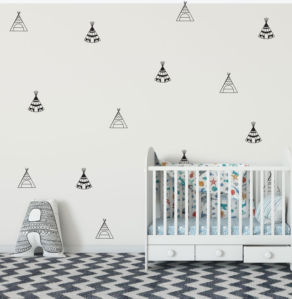 Teepee Wall Decals | Nursery Decal | Woodland Decals ...
