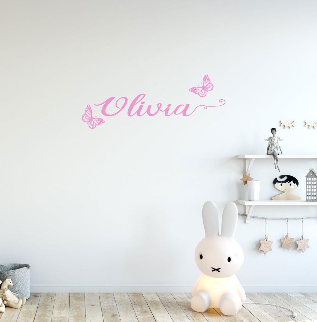 Custom Butterfly Wall Decal   Girls Room Decal   Butterfly Wall Sticker    Custom Wall Decal   Nursery Butterfly Decal   Girls Nursery Stickers