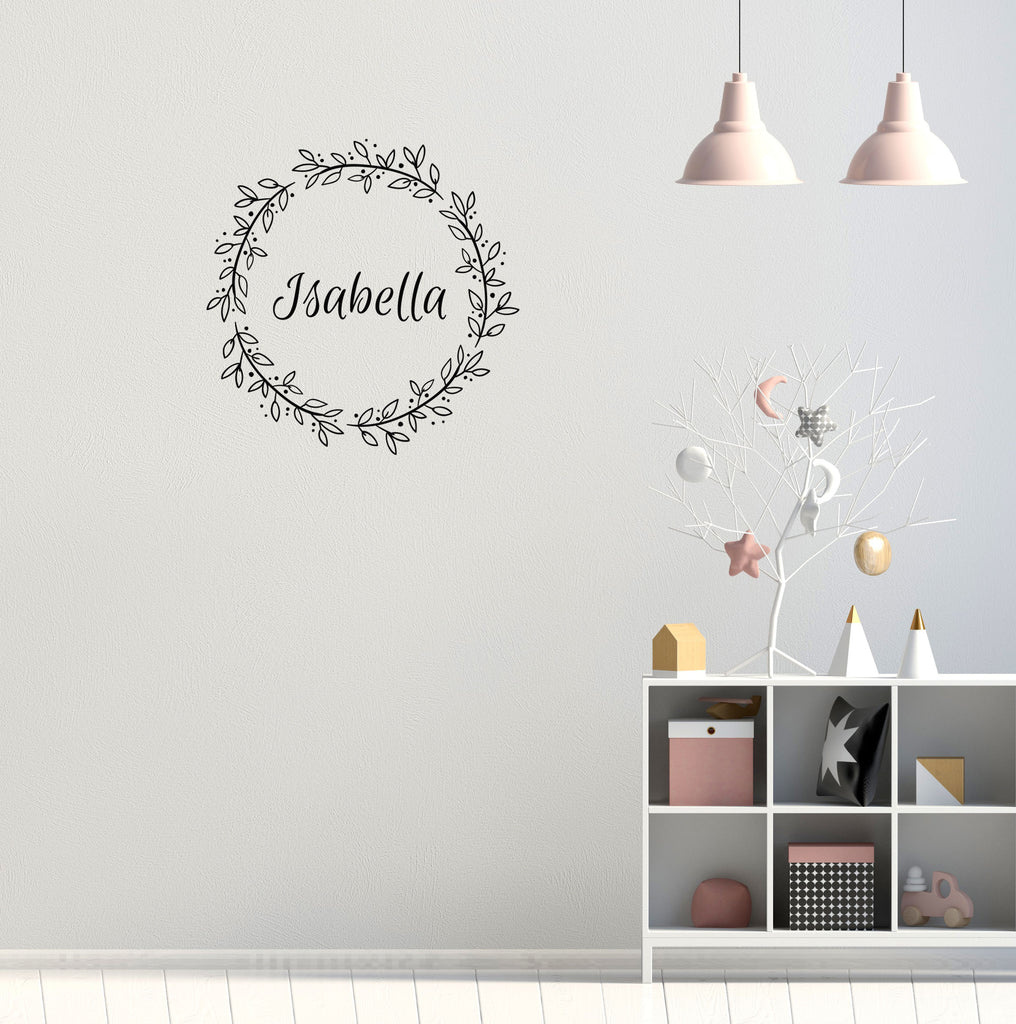 Custom Floral Wall Decal | Nursery Decals | Custom Decals | Kids Room Decals  | Girls ...