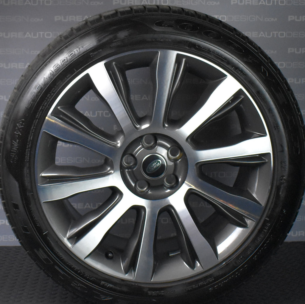 "Range Rover Sport 21"" 507 Diamond Turned Alloys Wheels With Tyres"