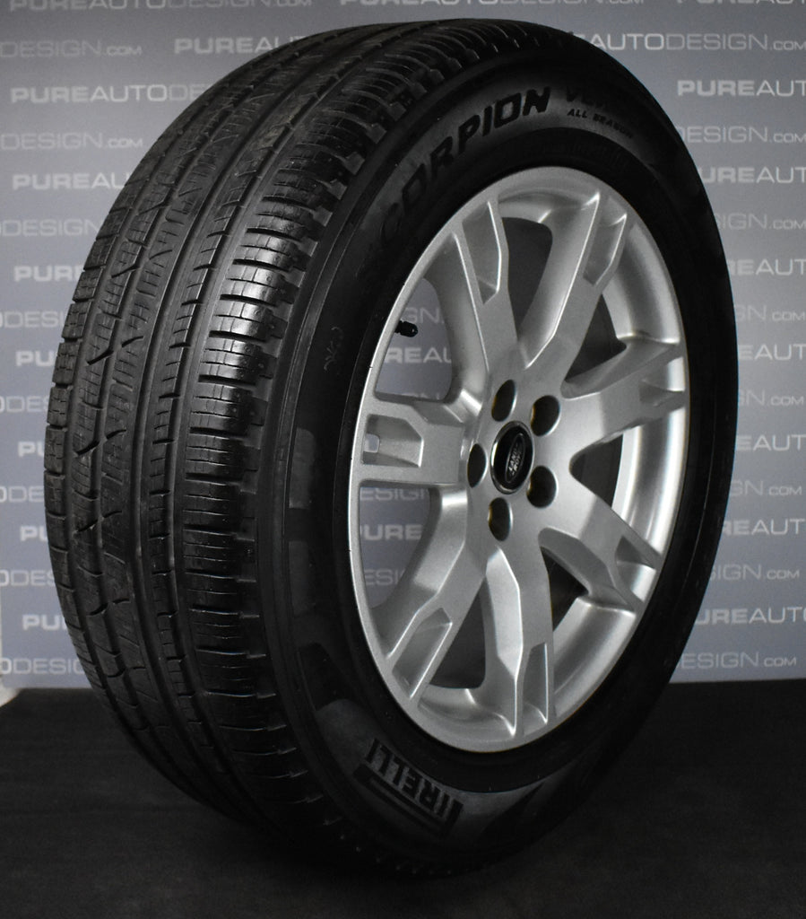 "Genuine OE 18"" Range Rover Evoque Alloy Wheels With Pirelli Mud & Snow Tyres"
