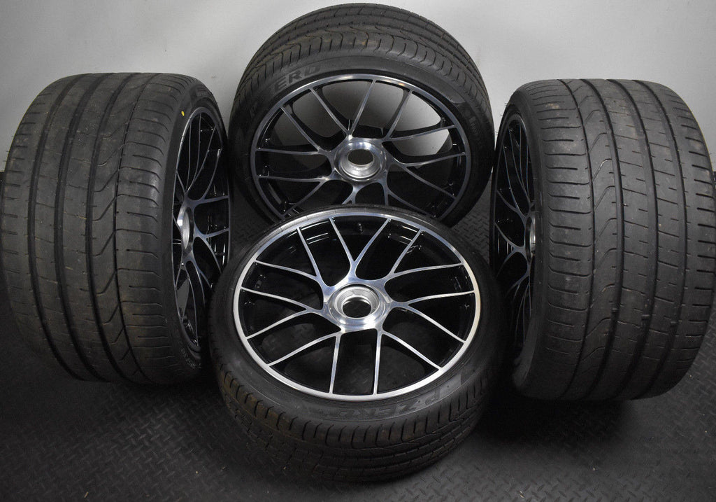 "Genuine 20"" inch Porsche 911 991 GTS Turbo 4 Alloy Wheels With Pirelli Tyres"