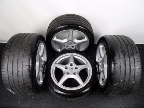 "Genuine OE 18"" Porsche 911 997 Carrera III C2 Star Alloy Wheels With Tyres"