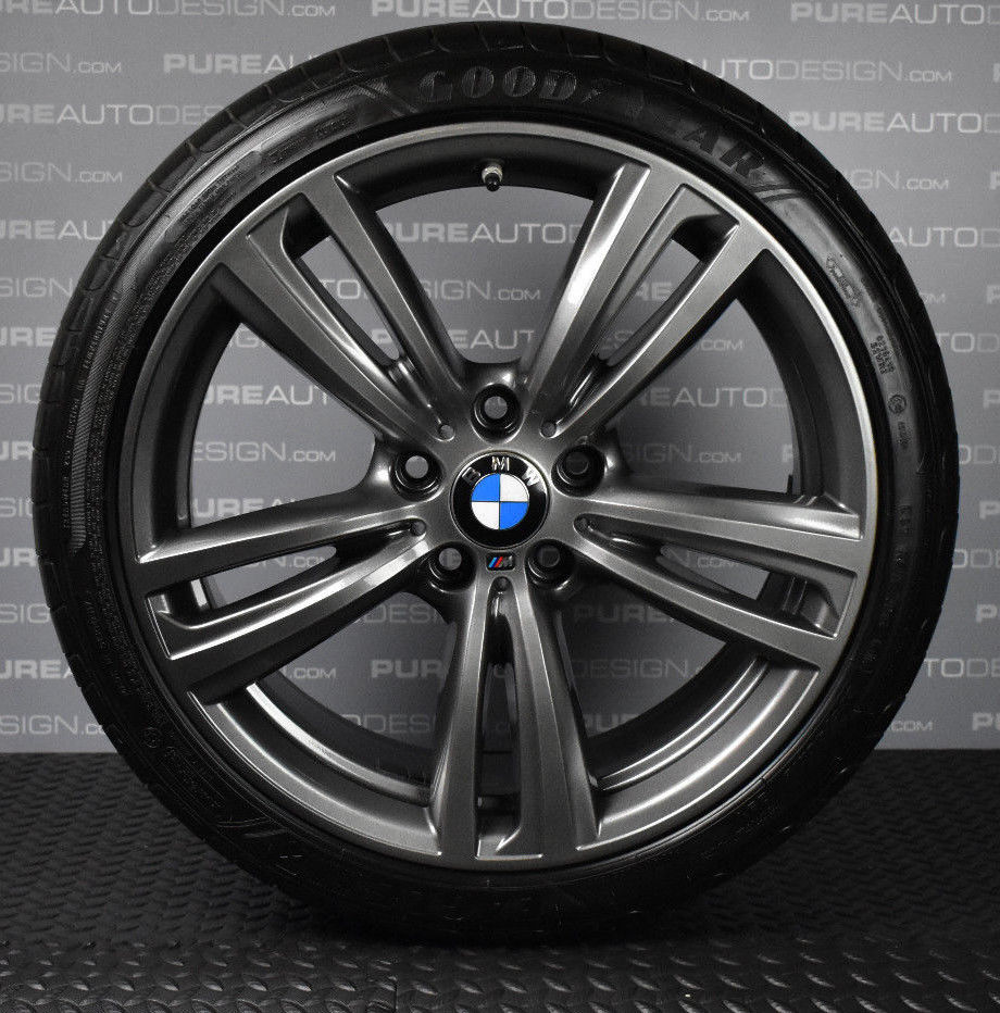 "Genuine Set of 4 19"" 442M BMW 3 4 Series Alloy Wheels Refinished in Orbit Grey"