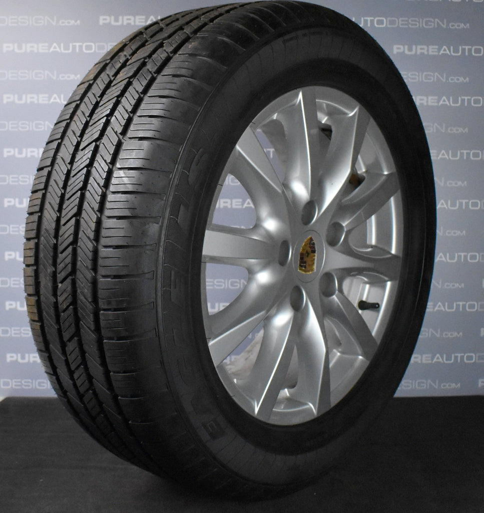"Four Genuine OE 18"" Porsche Cayenne Alloy Wheels With Mud & Snow Tyres"