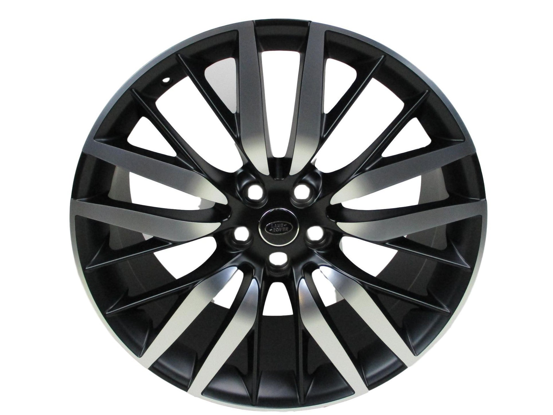 22 inch SVR Style Range Rover Alloy Wheels Matte Black With Diamond Turn