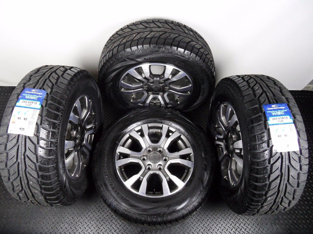 "Genuine 18"" Ford Ranger WildTrack Alloy Wheels Cooper Winter Tyres With TPMS"