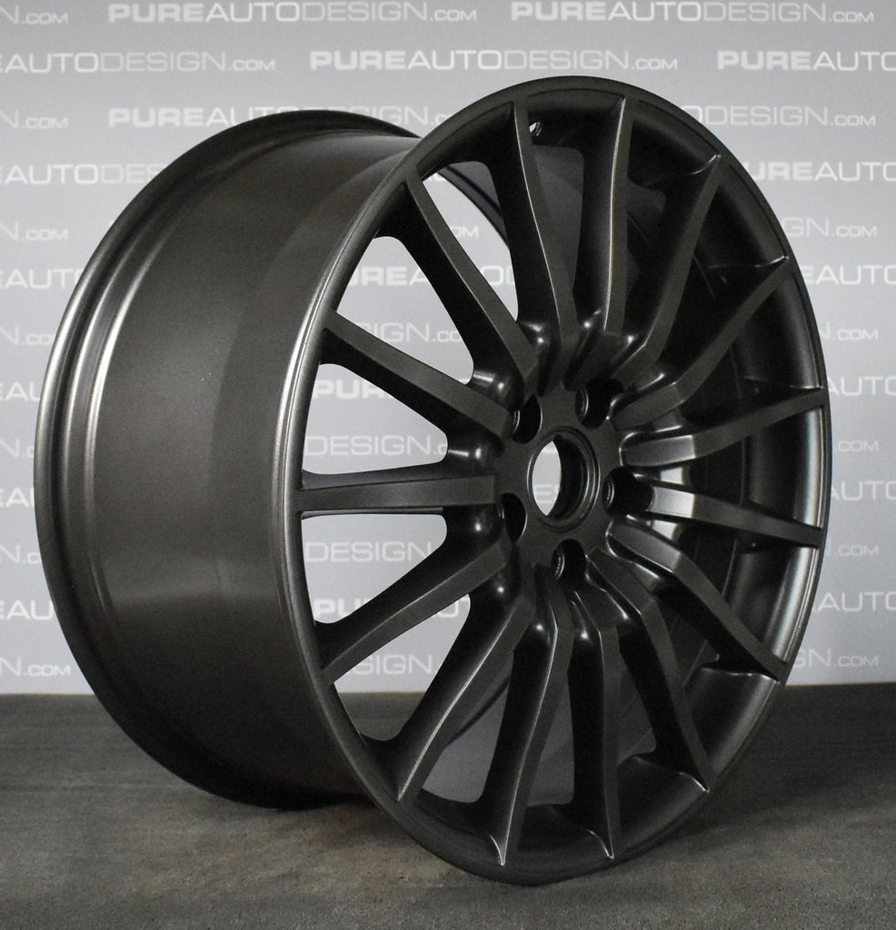"Genuine Aston Martin 19"" DB9 Alloy Wheels Finished In Dark Carbon Grey"