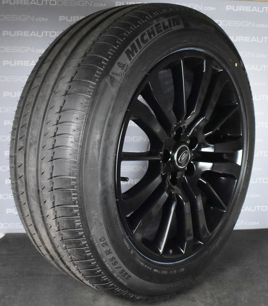 20 inch Range Rover Sport Alloy Wheels Finished In Gloss Black With Michelin Tyres