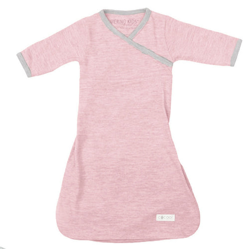 merino kids gown pink front