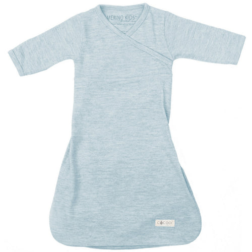 merino kids gown turtle dove front