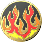 Enamel Flame On Black, PopSockets
