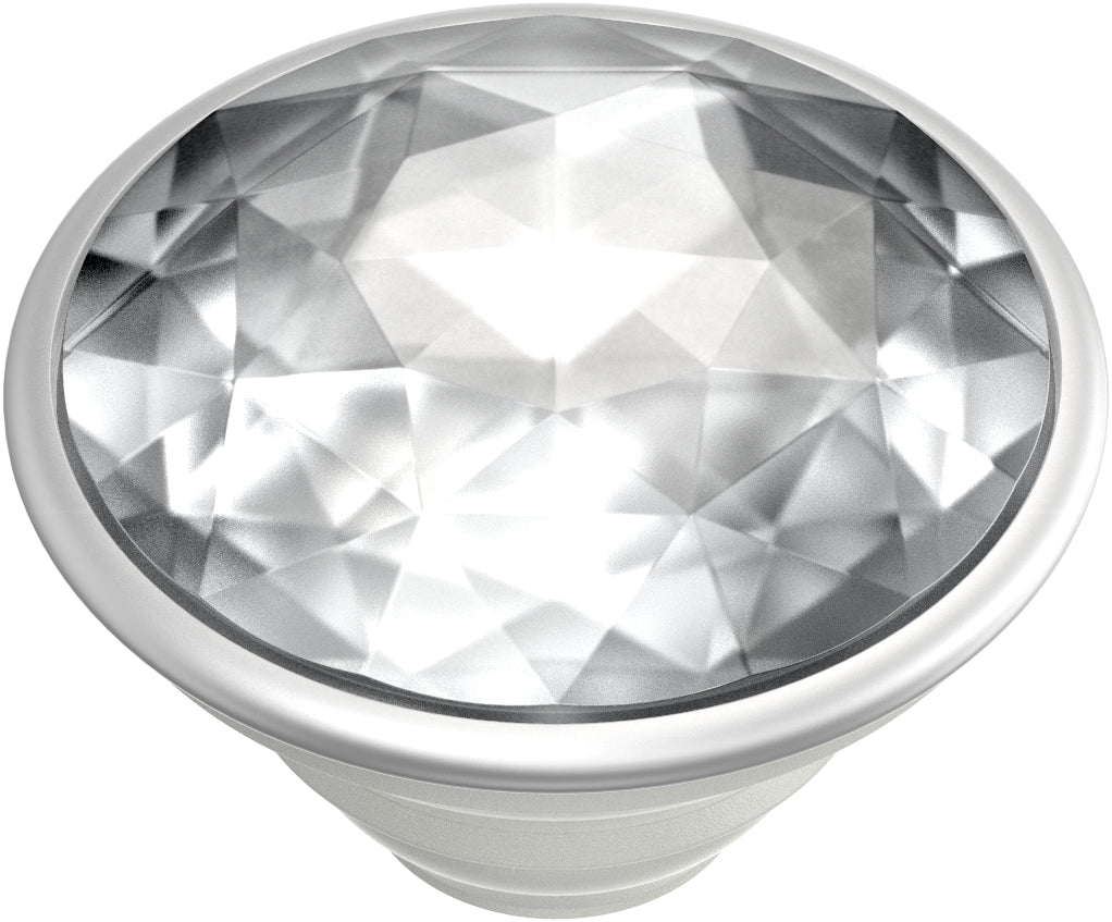PopGrip Disco Crystal Silver, PopSockets