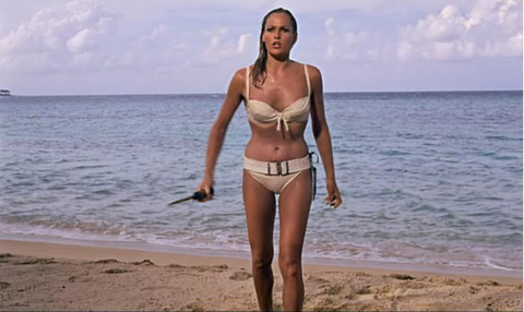 Urusula Andress en bikini dans James Bond