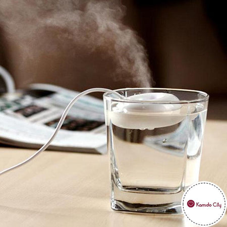 HUMIDIFICATEUR D'AIR MINI USB BLANC