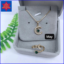 Load image into Gallery viewer, Birthstone Necklace & Ring