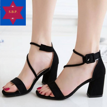 Load image into Gallery viewer, Joyce Block Heel Sandals