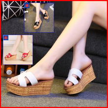 Load image into Gallery viewer, Madel Wedge Sandals