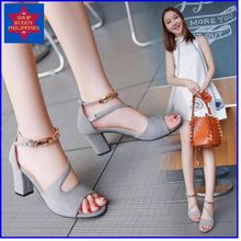 Load image into Gallery viewer, Lourdes Block Heel Sandals