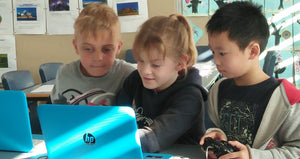 At RUNSTEM coding class children learn coding games, animations and application