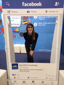 Director and Founder of RUNSTEM Milena at EduTech Expo in Sydney