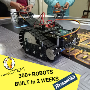 RUNSTEM  robotics STEM school partners with ROBOROBO and builds over 300 robots