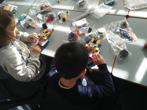 Kids build robots from robokids robotics kit for kids to learn coding robots
