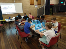 Children are coding 3D games during coding camp