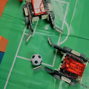 Children are playing soccer cup at Robotic Soccer School Holidays Camp