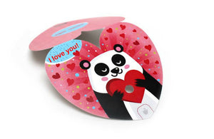 Valentines Day I love you Panda Electronic DIY Robo Postcard