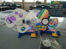 Robot fan projects programmed by our robotics class participants