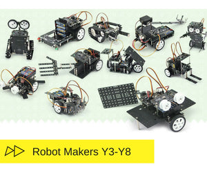 Robot makers level class to learn robots building and programming