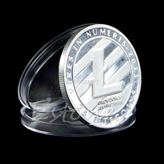 Silver Plated 25 LTC Litecoin Vires in Numeris Medallion New Coin