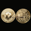 Gold Plated Bitcoin Coin Collection Gift