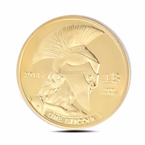 Gold Plated Titan Coin BTC Collectible Collection Bitcoin