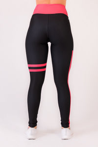 Feelshape Red Stripe Naisten Legginsit