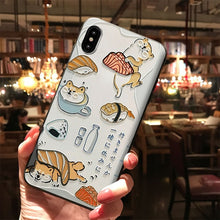 Load image into Gallery viewer, Shiba Inu and Sushi iPhone Case