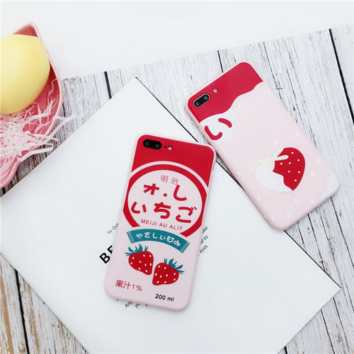 Strawberry Candy iPhone Cases