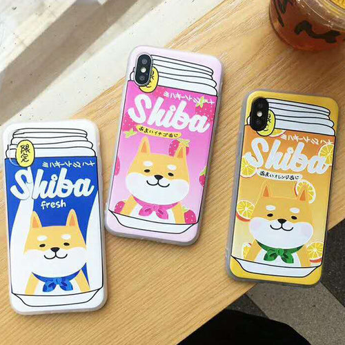 Shiba Inu Fruity iPhone Cases