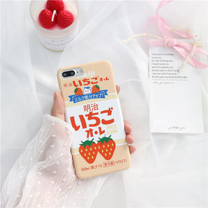 Fruity Milk iPhone Cases