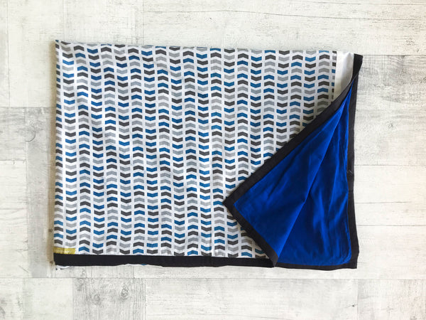 Waves print Baby Blanket - Whitewater