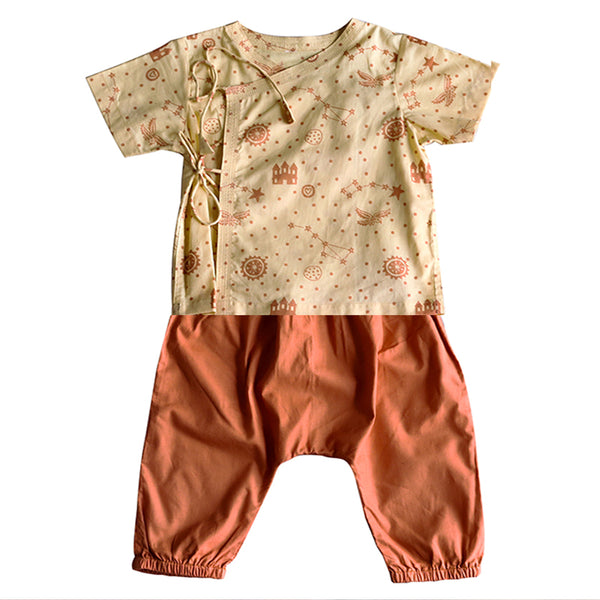 Natural Dyed Organic Cotton Newborn Pants