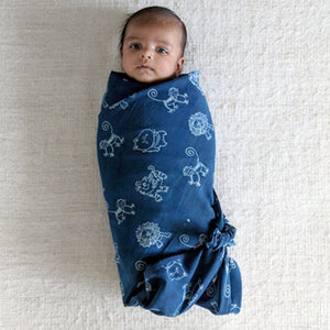 Organic Muslin Swaddle Wrap - Zoo.