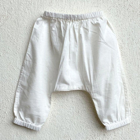 Organic Cotton Essential White Pyjama Pants