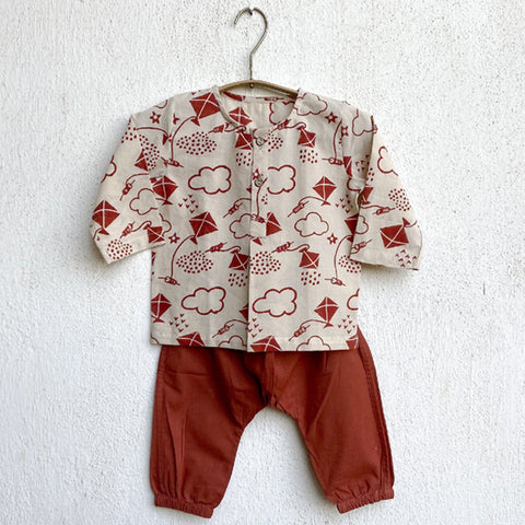 Organic Cotton Patang Bag - Kurta and Pajama Pants Set