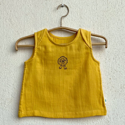 Organic Cotton Zoo Yellow Jhabla