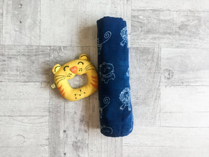 Zoo Bag - Swaddle and Teether - Whitewater