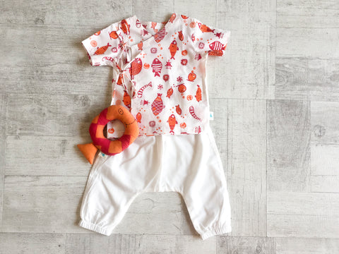 Koi Bag - Angarakha, Pyjama Pants and Teether - Whitewater